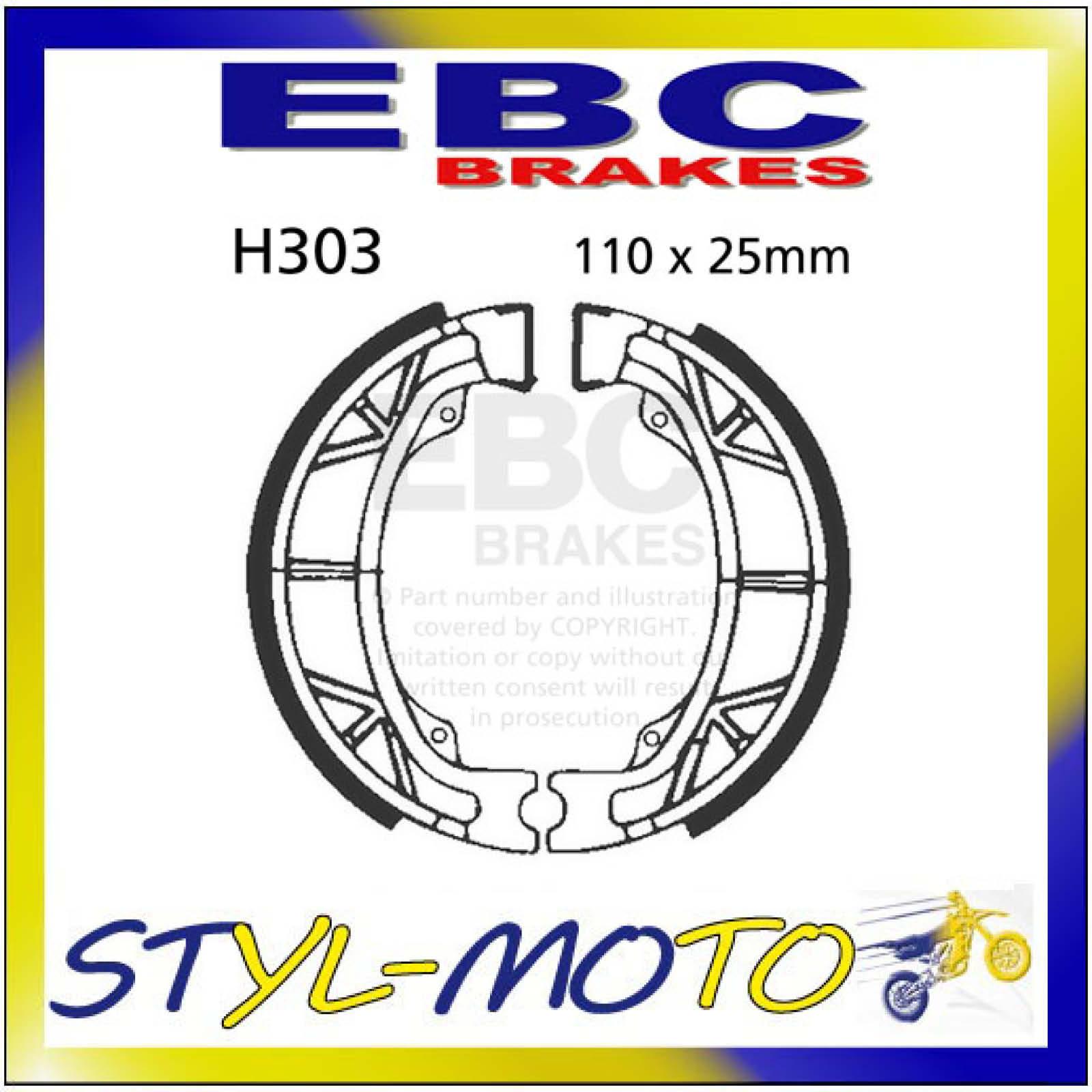 EBC GANASCE BRAKE SHOE h303 ANTERIORE POSTERIORE KYMCO MXER 150