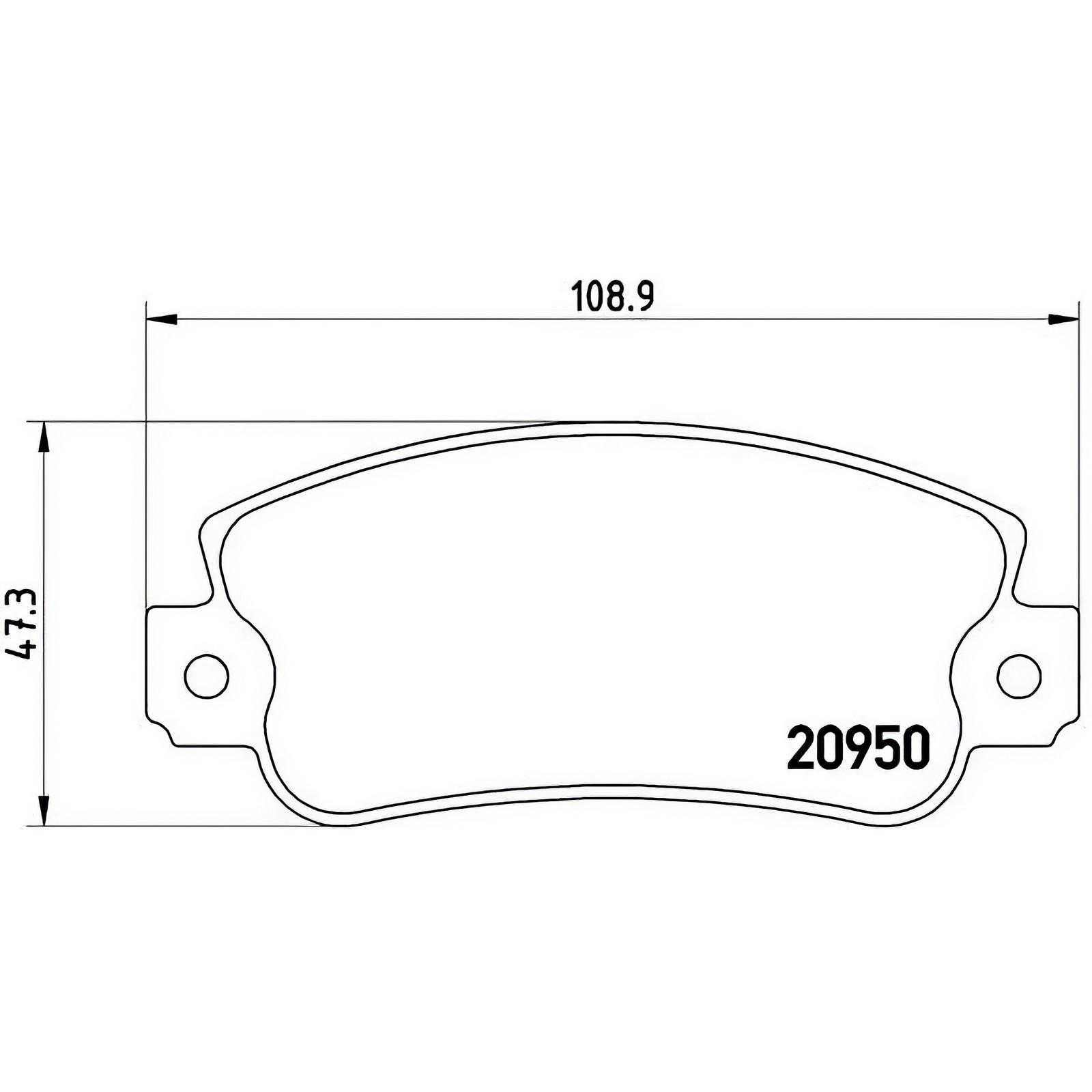 141A KIT PASTIGLIE FRENO ANTERIORE BREMBO FIAT PANDA 1100 KW:40 1995/>2003 P230
